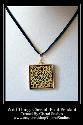 Cheetah Print Pendant