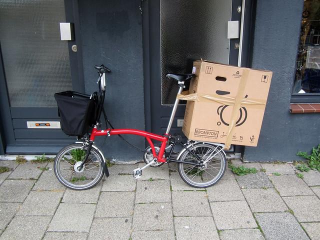 Bringing a brompton box home