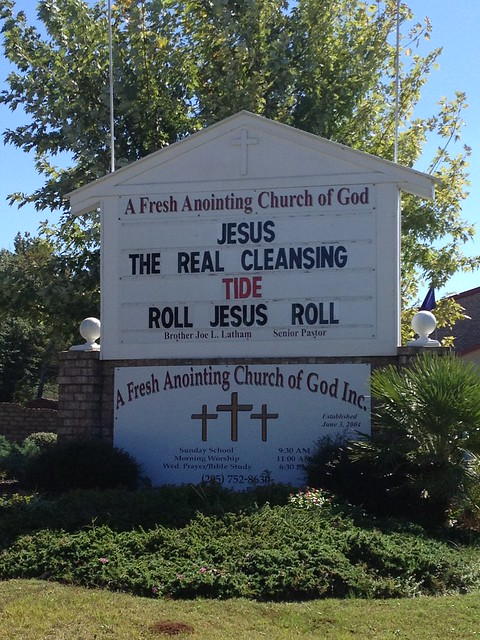 RTR, RJR Church Sign