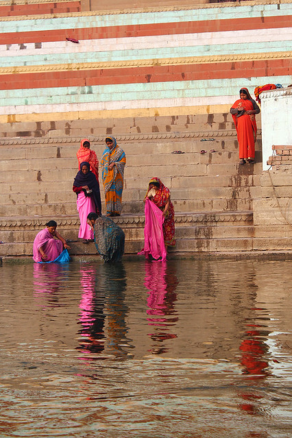 Women washing by Ganges river