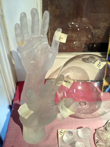 Glass hands