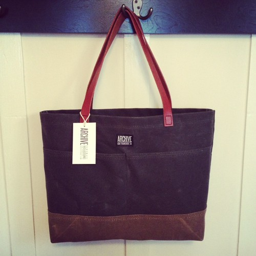 Waxed Canvas Tote by Archive Victor