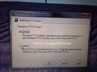 How to switch to Legacy Function Key Mode – ThinkScopes