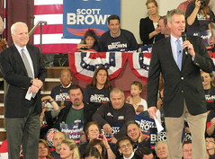 Sen. John McCain and Sen. Scott Brown