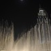 Dancing fountain, fans and a nearly-full moon