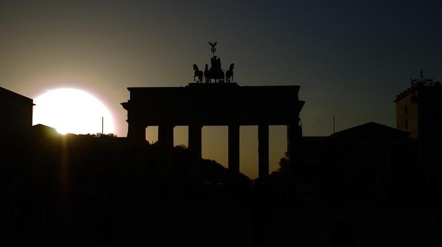Brandenburger Tor at Sunset