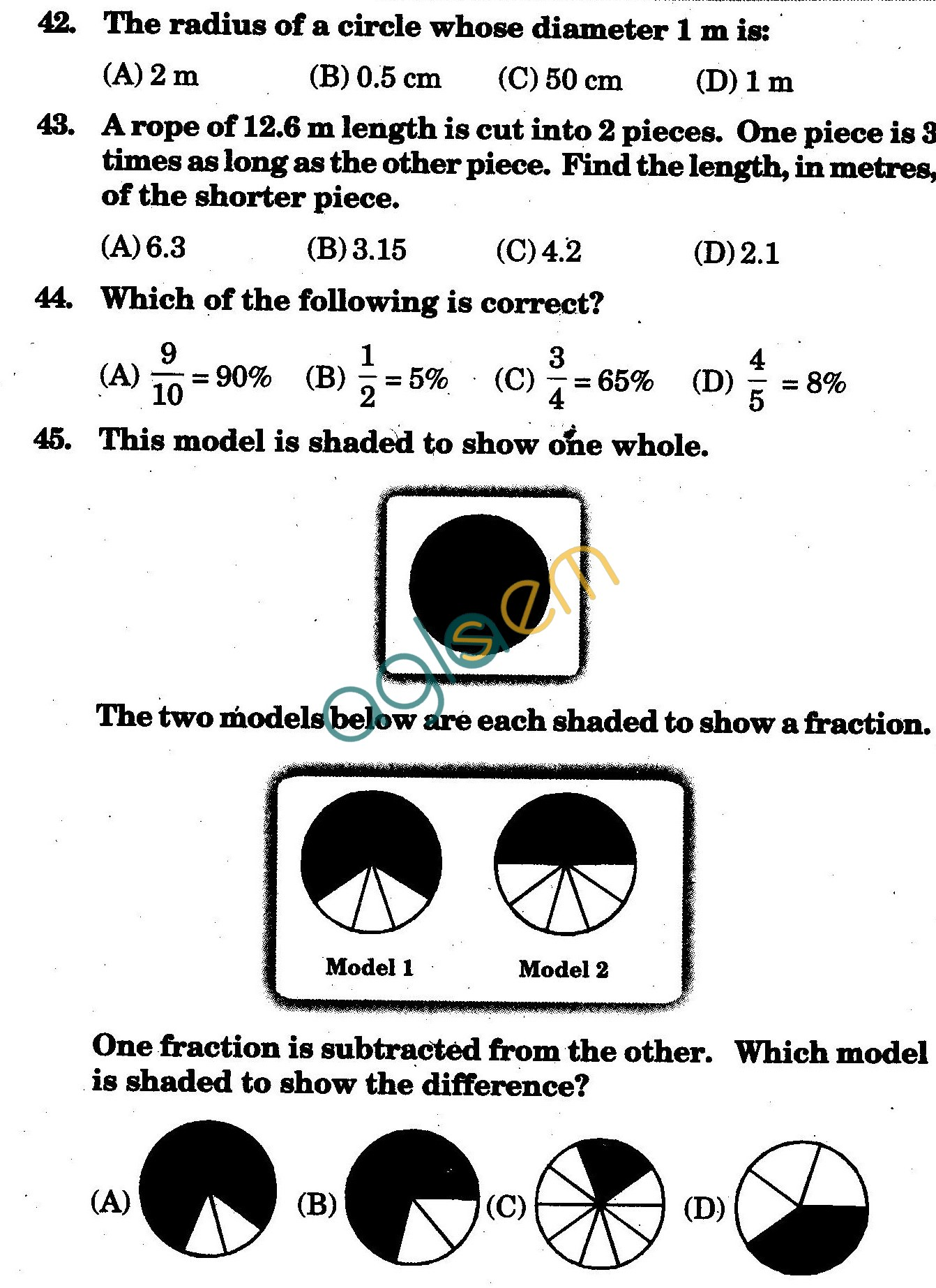NSTSE 2009 Solved Question Paper for Class V