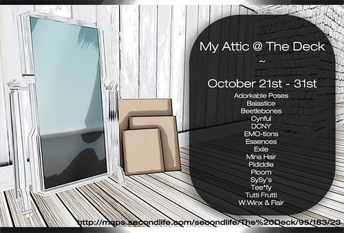 NOW OPEN - My Attic October 21st - 31st with Designers
