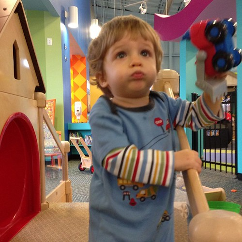 Our second children's museum this week... That's what a rainy week will do for ya
