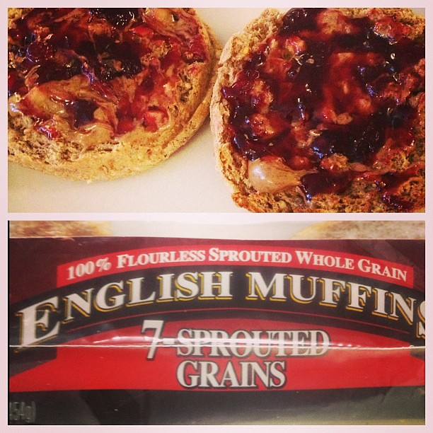 My exciting breakfast. English muffins, I have missed you.
