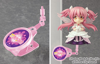 Display Nendoroid Ultimate Madoka with the clip stand!