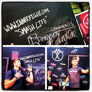 Dominating the CJ Fitness stand @ In Shape #beirut #innerfight #smashlife #fitness #lebanon