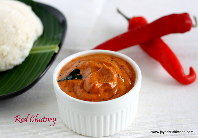 RED JALAPENO CHUTNEY  SIDE DISH FOR IDLI  DOSA