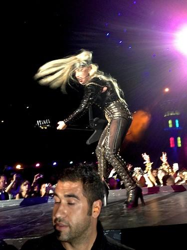 Lady GaGa Playing The Guitar