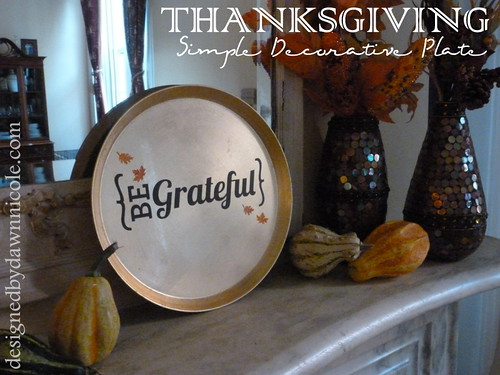 DIY Thanksgiving Decorative Plate
