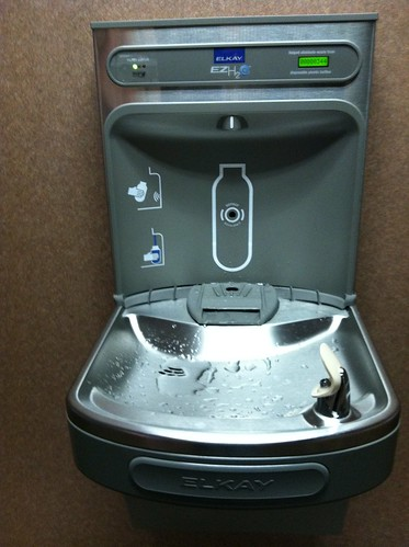 "#fmsphotoaday 2 things ... water fountain + ""space age"" water bottle filler"
