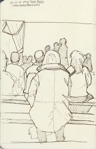 Cub Scouts Mid-Sale Rally Sketch