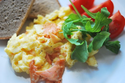Smoked Salmon Loves Creamy Scrambled Eggs by Lameen
