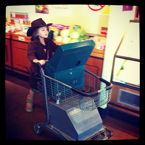 And then Indy went to the supermarket.