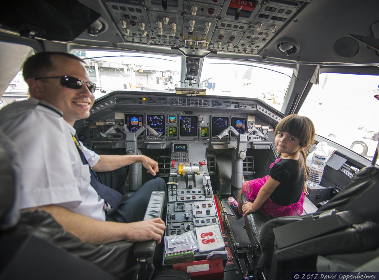 Cockpit of Embraer ERJ145 Delta Airlines Jet Plane