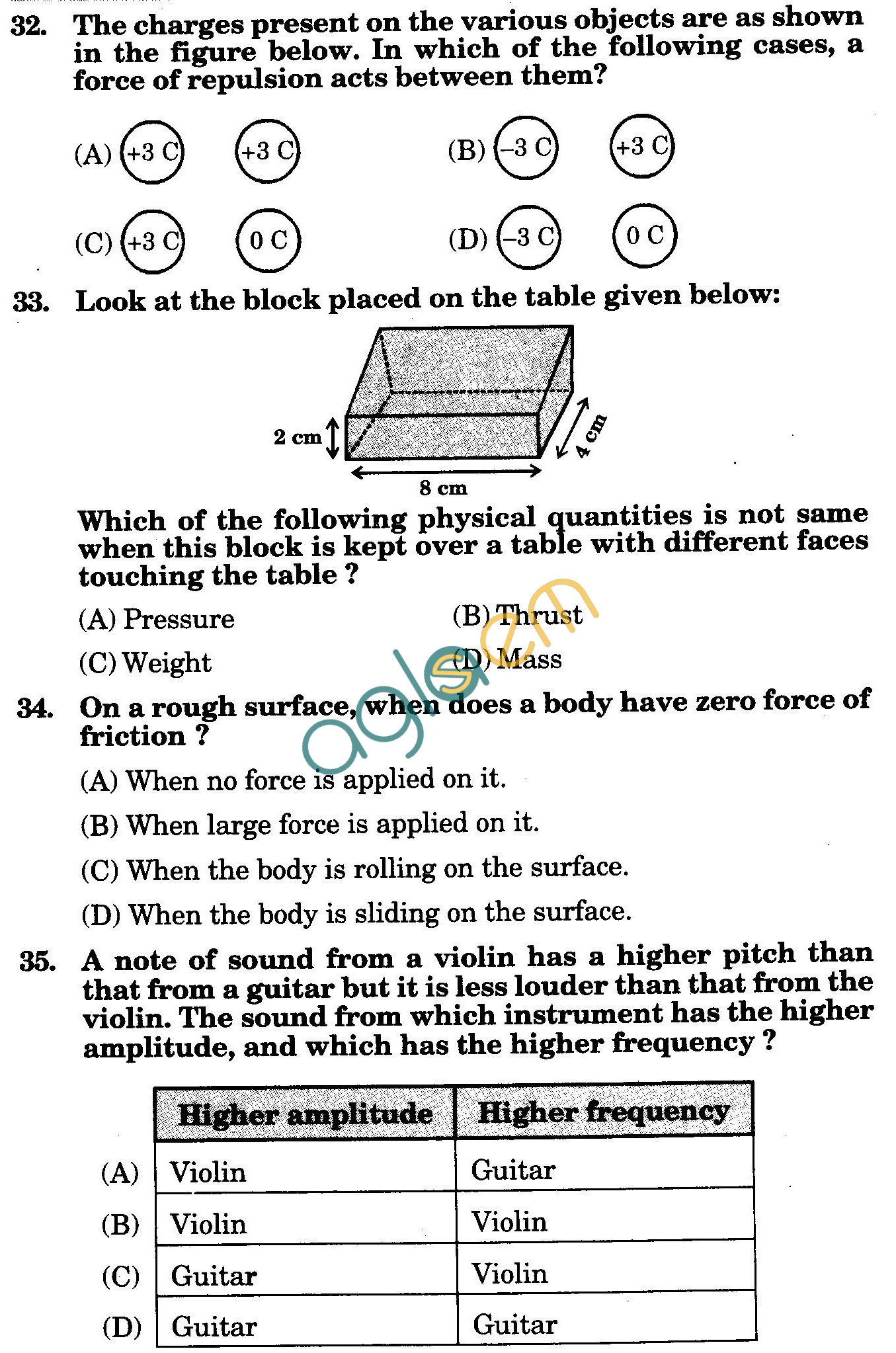 NSTSE 2010 Solved Question Paper for Class VIII