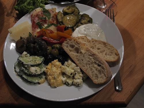 Vom Vegetarischen Antipasti-Buffet