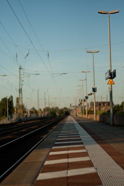 at the trainstation