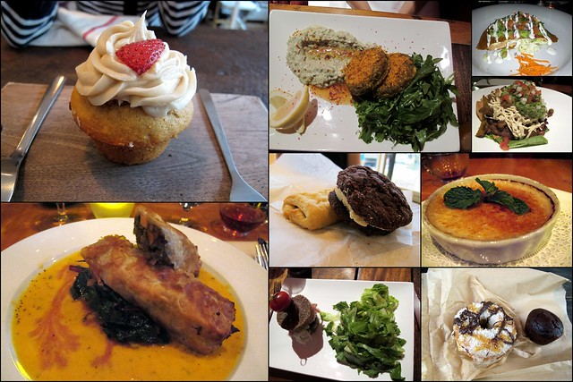New York Vegan Food Collage