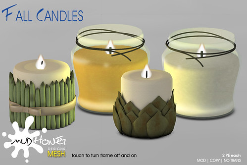 mudhoney fall candles