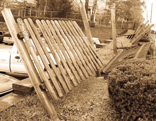 A Sandy Split Fence