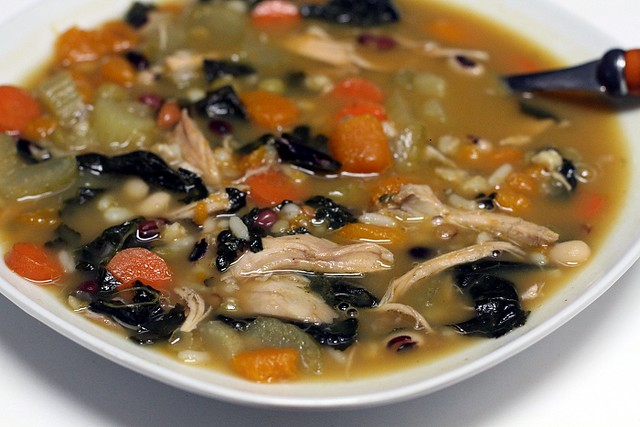 Zuppa del Casale - Mixed Legume Vegetable Minestrone Soup with Pumpkin and Kale