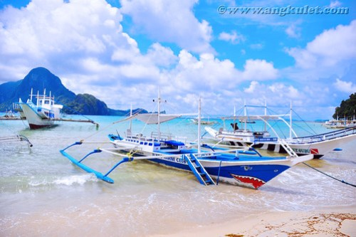 El Nido town beach, Palawan