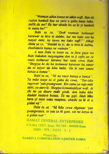 Hajiya Balaraba Ramat Yakubu's novel Alhaki Kuykuyo Ne/Sin is a Puppy Published in translation by Blaft (3/5)