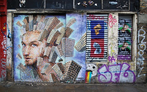 Graffiti (Jimmy C), Shoreditch, London, England.