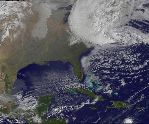 Satellite View of Hurricane Sandy on Oct. 29