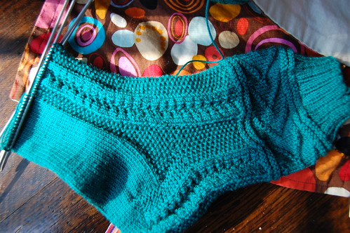 Gladys Sock in Progress