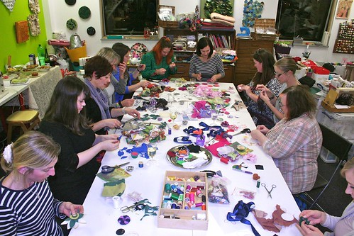 Vintage Fabric Flowers workshop