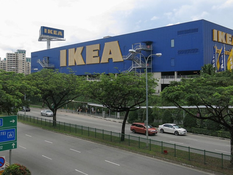 Outside Ikea (Tampines, Singapore)