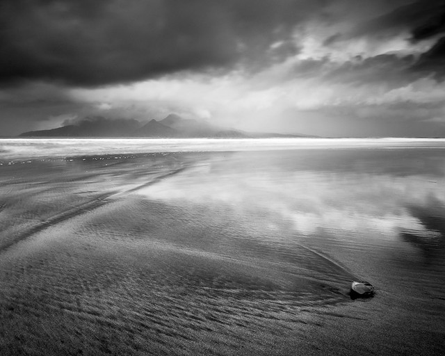 Solitary shell - looking towards Rum
