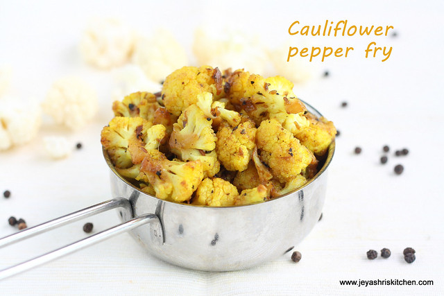 Cauliflower pepper fry 3