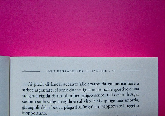 Eduardo Savarese, Non passare per il sangue. edizioni e/o 2012. Grafica di Emanuele Gragnisco; illustrazione di Luca Laurenti. Pagina 13 (part.), 1