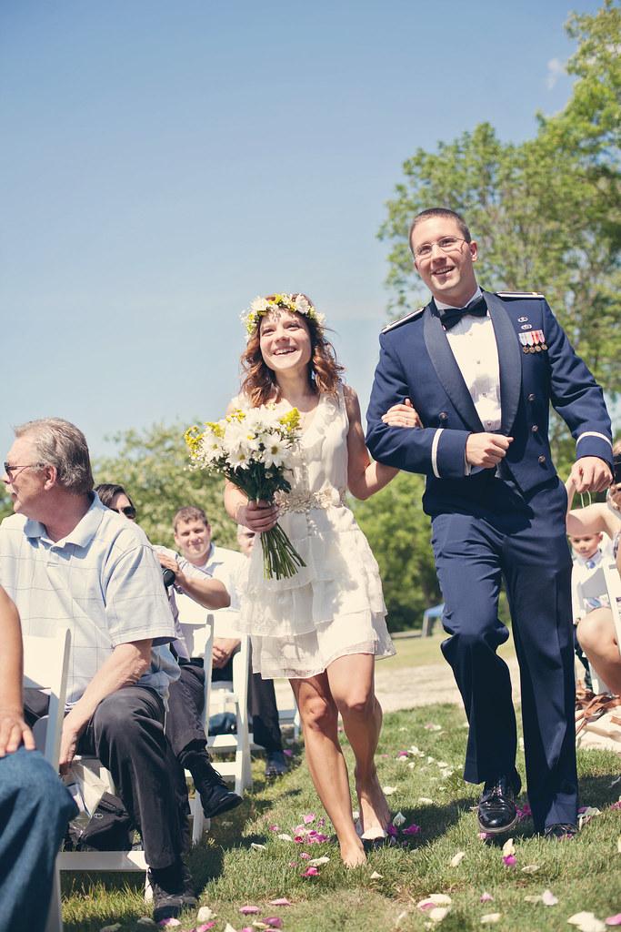 Boho bride & Military man