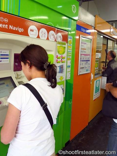 taking the Paris Metro