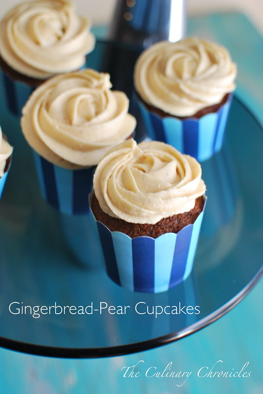 Gingerbread-Pear Cupcakes