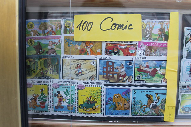 Comic themed stamps
