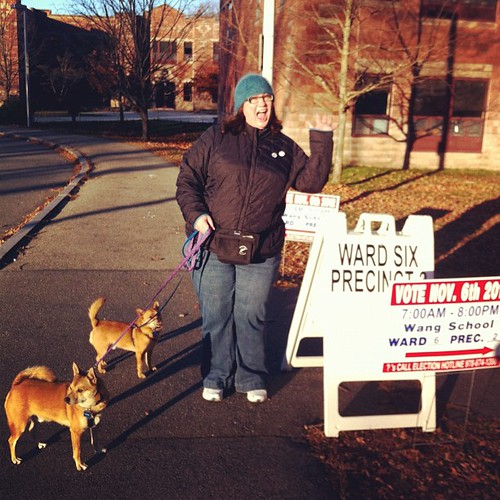 Doing our civic duty! #Lowell #Vote #UsingThe19th