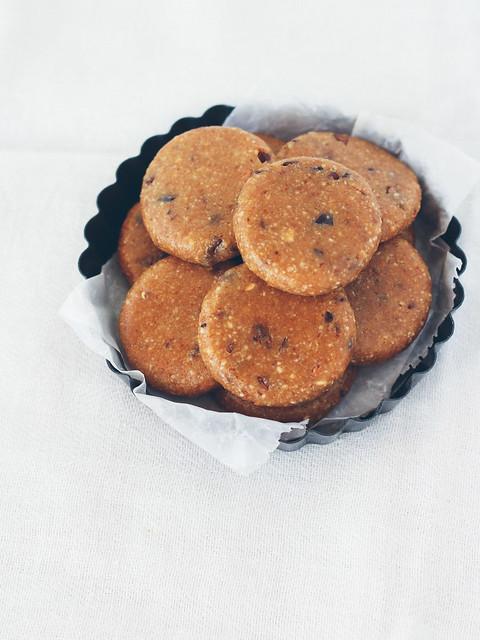 Raw cacao nib cookies