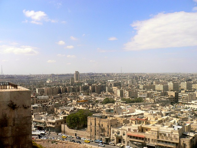 The city of Aleppo, Syria