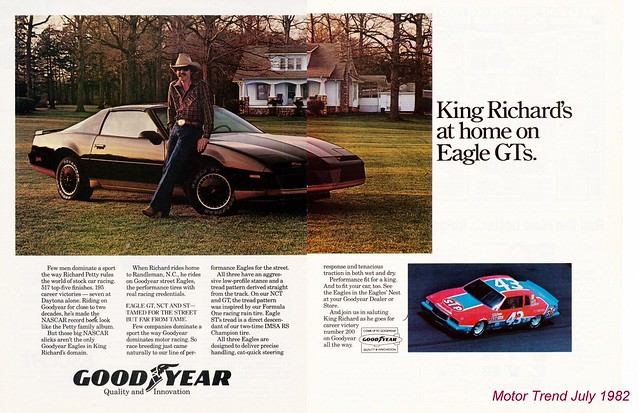 Richard Petty / Goodyear - Motor Trend July 1982