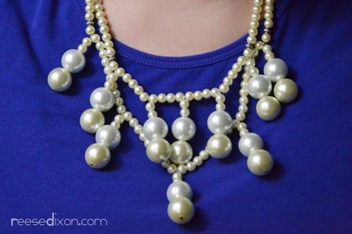 Tiered Pearl Necklace Tutorial